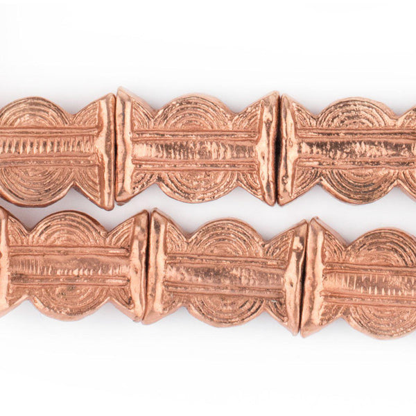 Copper Baule Sun & Moon Beads (27x20mm) - The Bead Chest