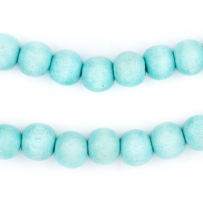 Mint Green Natural Wood Beads (8mm) - The Bead Chest