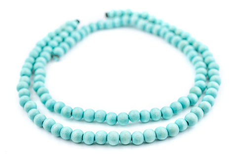 Image of Mint Green Natural Wood Beads (8mm) - The Bead Chest