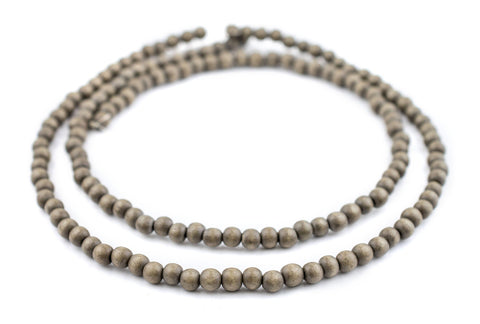 Brown Natural Wood Beads (6mm) - The Bead Chest