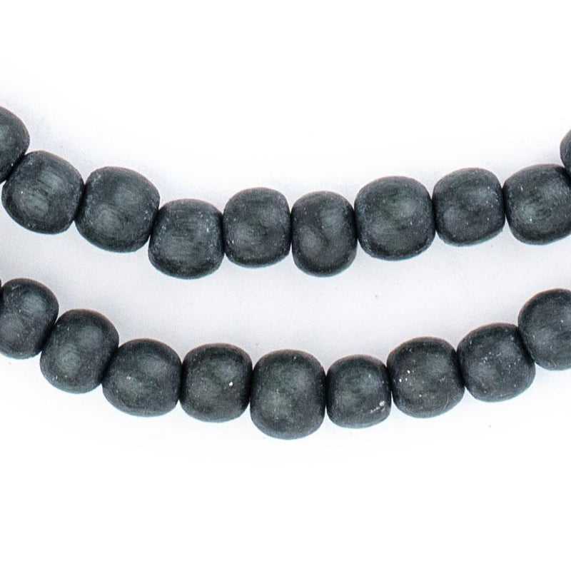 Charcoal Natural Wood Beads (6mm) - The Bead Chest