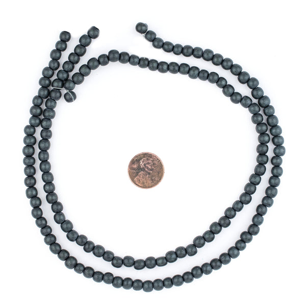 Charcoal Natural Wood Beads (6mm)
