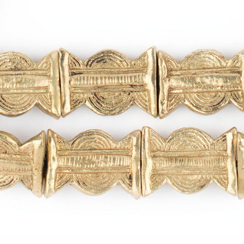 Image of Brass Baule Sun & Moon Beads (27x20mm) - The Bead Chest