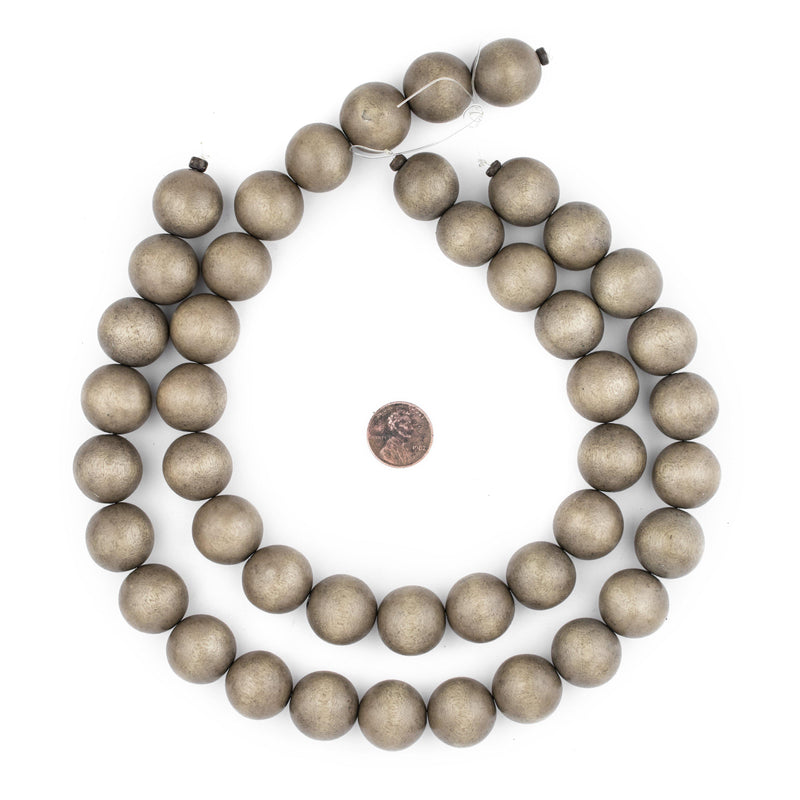 Brown Natural Wood Beads (20mm) - The Bead Chest