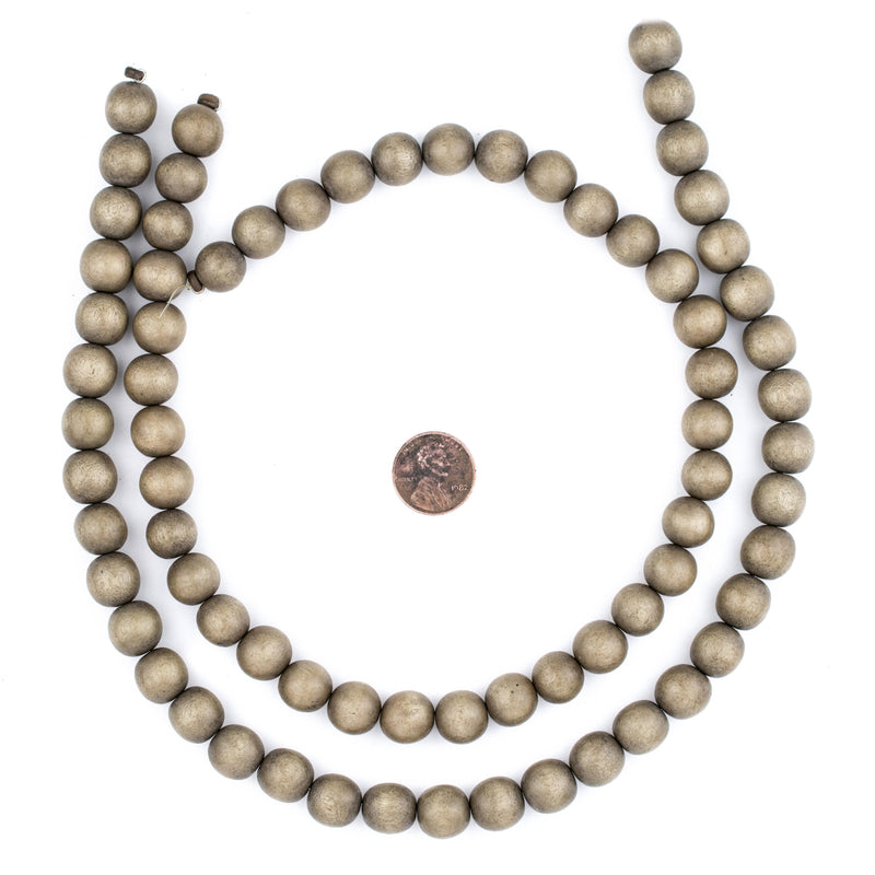 Brown Natural Wood Beads (12mm) - The Bead Chest