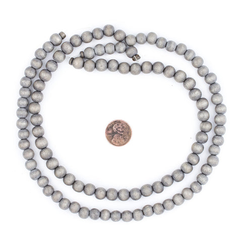 Grey Natural Wood Beads (8mm) - The Bead Chest
