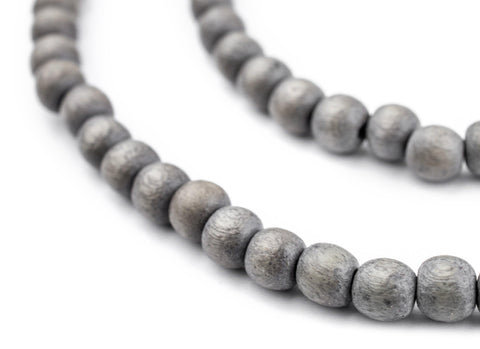Grey Natural Wood Beads (6mm) - The Bead Chest