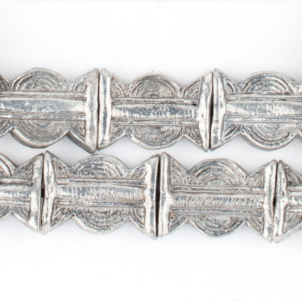 Silver Baule Sun & Moon Beads (27x20mm) - The Bead Chest
