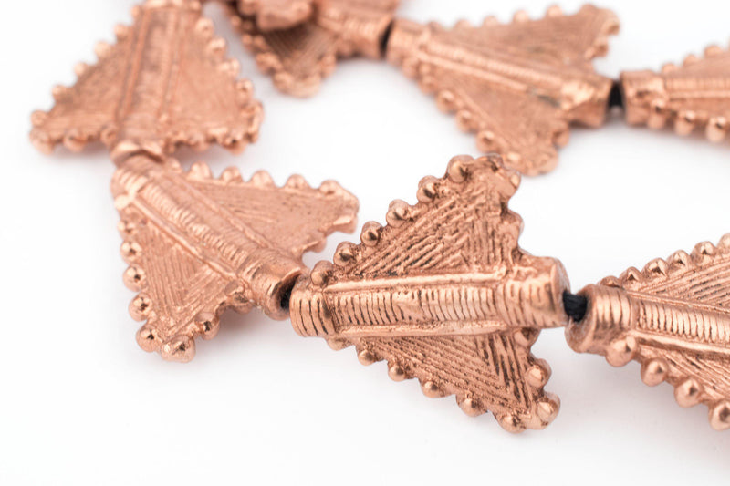 Copper Triangular Baule Beads (27x26mm) - The Bead Chest