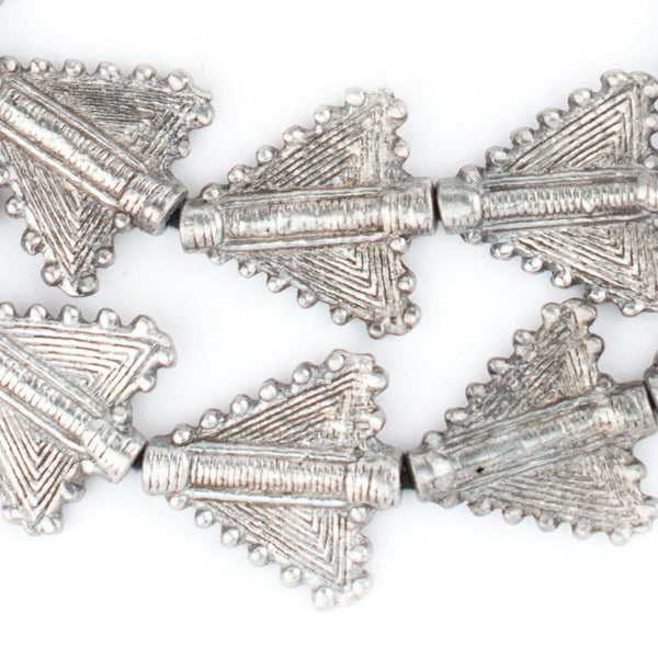 Silver Triangular Baule Beads (27x26mm) - The Bead Chest