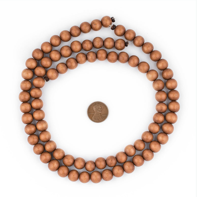 Light Brown Natural Wood Beads (10mm) - The Bead Chest