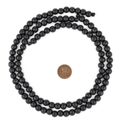 Black Round Natural Wood Beads (8mm)