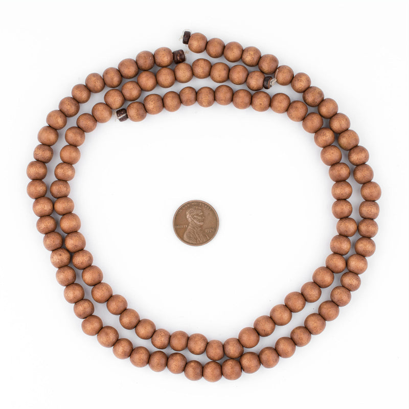 Light Brown Natural Wood Beads (8mm) - The Bead Chest