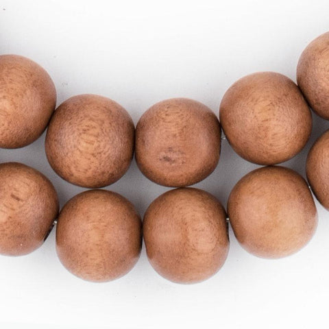 Light Brown Natural Wood Beads (12mm) - The Bead Chest