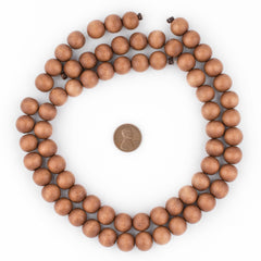 Light Brown Natural Wood Beads (12mm)