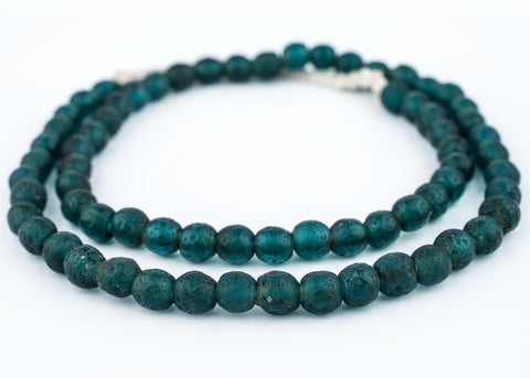 Image of Teal Ancient Style Java Glass Beads (9mm) - The Bead Chest