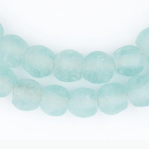Image of River Aqua Recycled Glass Beads (14mm) - The Bead Chest