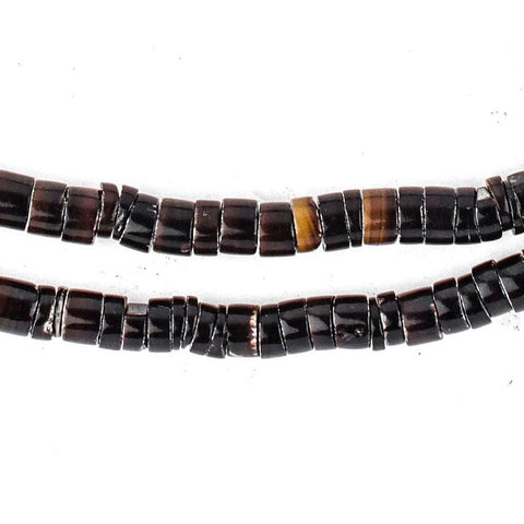 Black Natural Shell Heishi Beads (5mm) - The Bead Chest