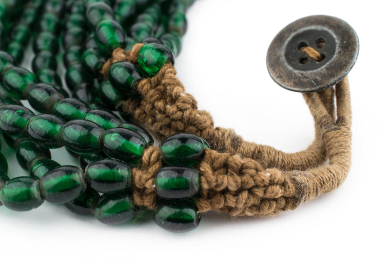Translucent Green Naga Bead Necklace - The Bead Chest
