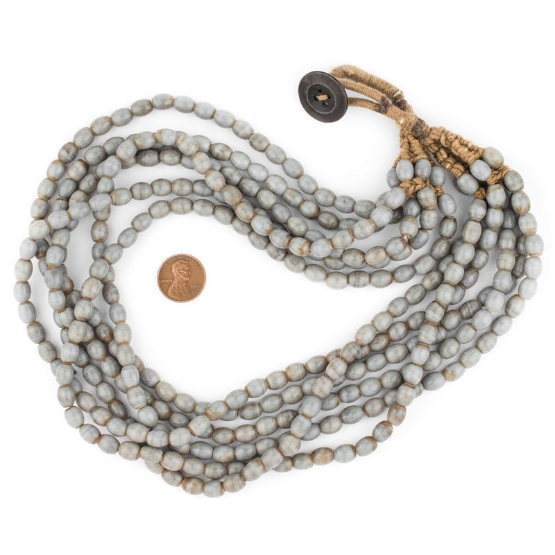 Grey Naga Bead Necklace - The Bead Chest