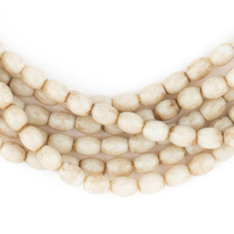 Cream White Naga Bead Necklace - The Bead Chest