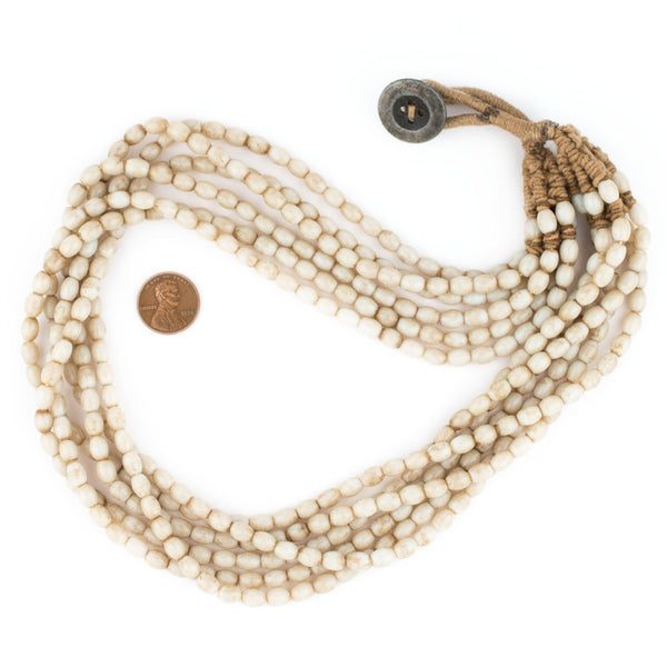Cream White Naga Bead Necklace