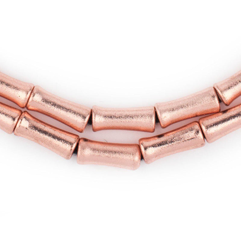 Copper Bamboo-Shaped Beads (12x5mm) - The Bead Chest