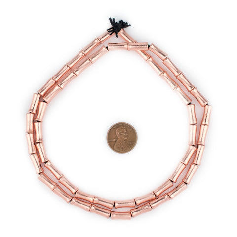 Image of Copper Bamboo-Shaped Beads (12x5mm) - The Bead Chest