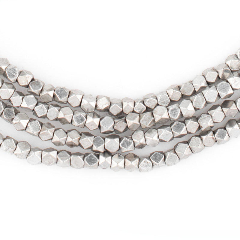 Silver Faceted Diamond Cut Beads (3mm) - The Bead Chest