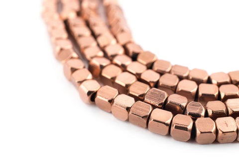 Image of Rounded Copper Cube Beads (3mm) - The Bead Chest