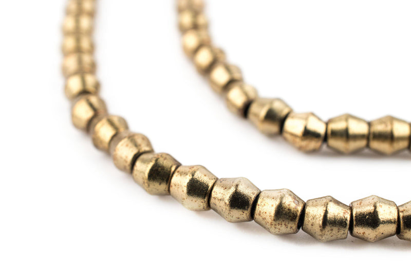 Smooth Antiqued Brass Bicone Beads (4.5mm) - The Bead Chest