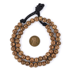 Round Natural Palm Wood Beads (8mm)