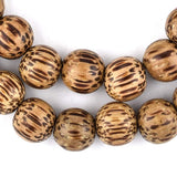 Round Natural Palm Wood Beads (10mm)