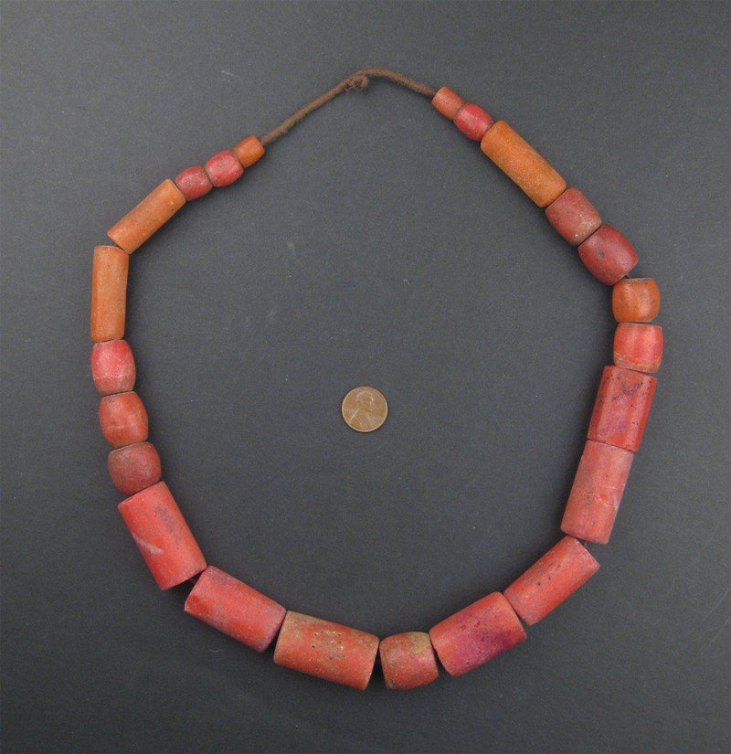 Yoruba Mock Coral Beads (Extra Large) - The Bead Chest