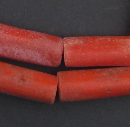 Yoruba Mock Coral Beads - The Bead Chest