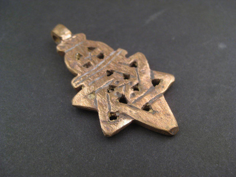 Ethiopian Copper Falasha Star of David (Large) - The Bead Chest