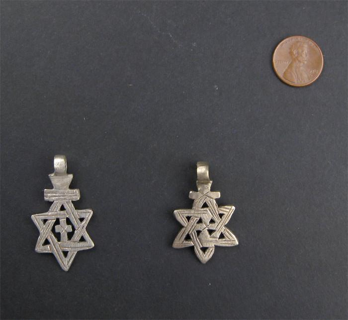 Ethiopian Star of David (set of 2) - The Bead Chest