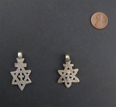 Image of Ethiopian Star of David (set of 2) - The Bead Chest
