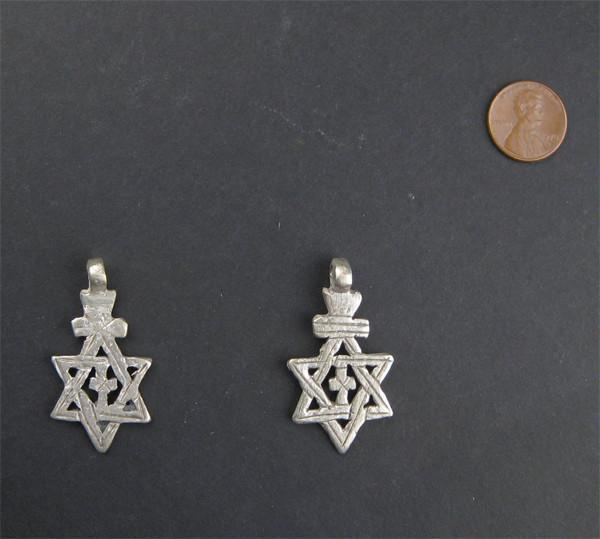 Ethiopian Star of David (set of 2)