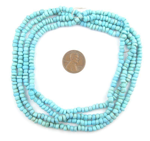 Baby Blue Glass Seed Beads (2 Strands)
