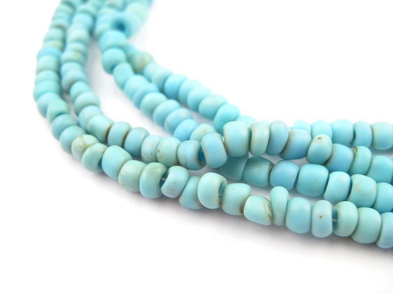 Baby Blue Glass Seed Beads (2 Strands) - The Bead Chest