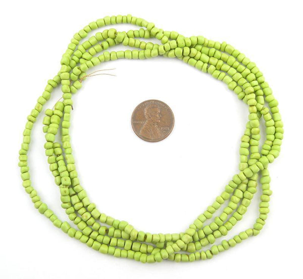 Pistachio Green Glass Seed Beads (2 Strands)