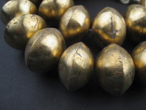 Mali Brass Bicone Beads (20x29mm) - The Bead Chest