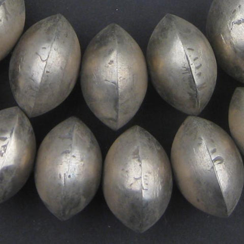 Mali Silver Bicone Beads (18x26mm) - The Bead Chest