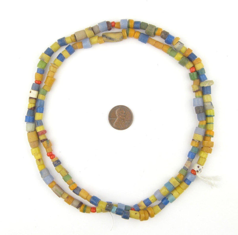 Multicolored African Sandcast Beads - The Bead Chest
