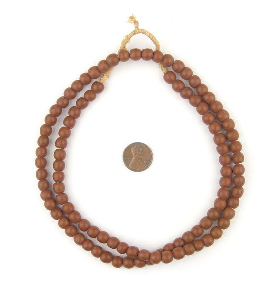 Vintage Brown Round Padre Beads