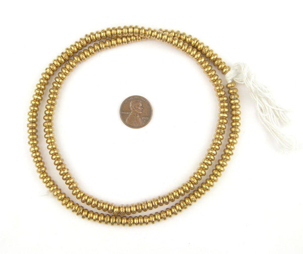 Brass Smooth Rondelle Beads (3x6mm)