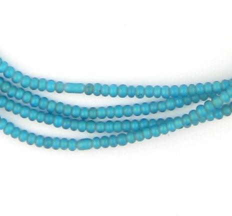 Image of Tiny Turquoise White Heart Seed Beads (2mm) - The Bead Chest