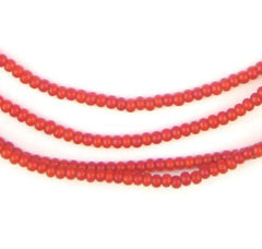 Tiny Red White Heart Seed Beads (2mm)