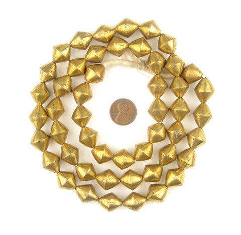 Mali Brass Bicone Beads (17x14mm) - The Bead Chest